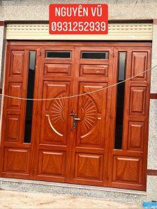 cửa sắt giả gỗ đẹp
