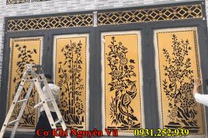 Dịch vụ làm cửa sắt cửa cổng sắt cnc theo yêu cầu phong thủy