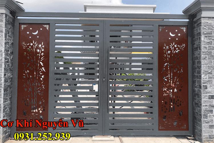 Thi công cửa sắt cửa cổng sắt CnC nghệ thuật đẹp