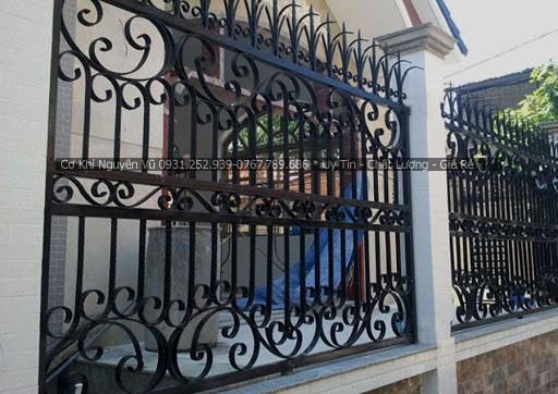 Thi công làm hàng rào sắt giá rẻ tại Quận Thủ Đức