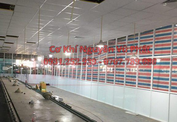 Thi công vách ngăn nhôm kính phòng giá rẻ tại Quận Tân Bình